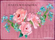 eKartki Kwiaty Kartka z kwiatami,