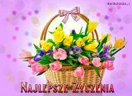 eKartki Kwiaty Kosz pełen kwiatów,