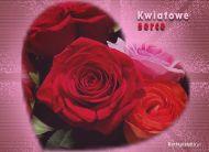 eKartki Kwiaty Kwiatowe serce,