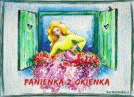 eKartki Kwiaty Panienka z okienka,