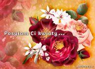 eKartki Kwiaty Posyłam Ci kwiaty,
