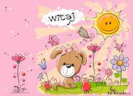 eKartki elektroniczne z tagiem: Kartki dzień dobry Powitanie pełne kwiatów,