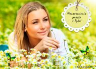eKartki elektroniczne z tagiem: Darmowe e-kartki kwiaty Pozdrowienia prosto z łąki,