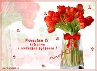 eKartki Kwiaty Przesyłam Ci tulipany,