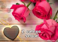 eKartki elektroniczne z tagiem: Darmowe e-kartki kwiaty Róże od serca,