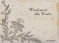 eKartki Kwiaty Wiadomość w kwiatach,