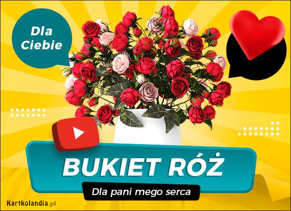 eKartki elektroniczne z tagiem: Walentynki Bukiet najpiękniejszych róż,