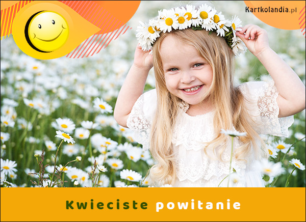 eKartki elektroniczne z tagiem: Dzień dobry Kwieciste powitanie,