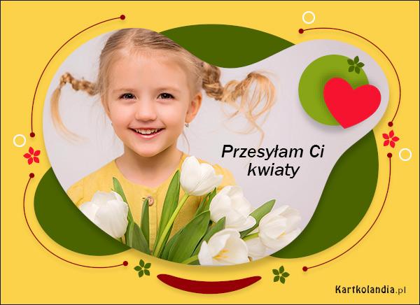 eKartki elektroniczne z tagiem: Tulipan Przesyłam Ci kwiaty...,