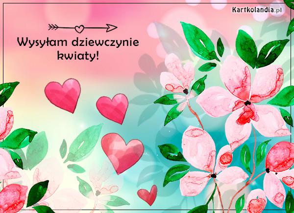 eKartki elektroniczne z tagiem: Walentynki Wysyłam dziewczynie kwiaty,