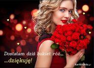 eKartki Kwiaty Dziękuję za bukiet róż,