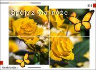 eKartki Kwiaty Kartka elektroniczna - Róże,