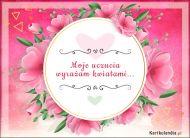 eKartki Elektroniczne Kartka wirtualna z kwiatami,