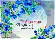 eKartki Kwiaty Obsypię Cię kwiatami...,