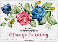eKartki Kwiaty Ofiaruję Ci kwiaty,