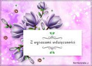 eKartki Kwiaty Z wyrazami wdzięczności,