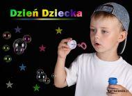 eKartki Dzieñ Dziecka Dzieñ Dziecka w kolorach têczy,