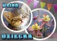 eKartki elektroniczne z tagiem: Narodziny dziecka Kartka z kotkiem,