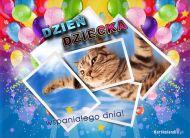 eKartki elektroniczne z tagiem: e-Kartka z kotem Wspaniałego Dnia Dziecka,