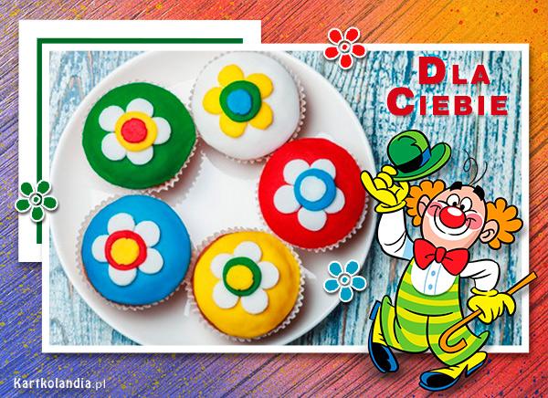 eKartki Dzień Dziecka Kolorowe muffinki,