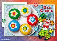 eKartki Dzieñ Dziecka Kolorowe muffinki,