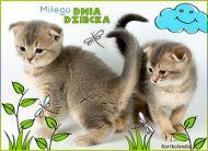 eKartki elektroniczne z tagiem: e-Kartka z kotem Miłego Dnia Dziecka,